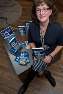 "Debbie Young, author of ""Sell Your Books!"", at her book launch"