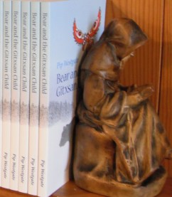 Statuette of reading man