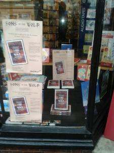 Paula Lofting's book on display in the window of The Bookshop, East Grinstead
