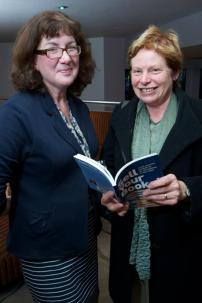 Debbie Young with author Sarah Lefanu