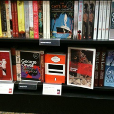Girl Cop and Burmese Days on same shelf at Waterstones, Bath