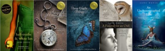 Covers of all of Jane Davis's books
