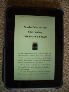 Kindle screen showing about the next book details