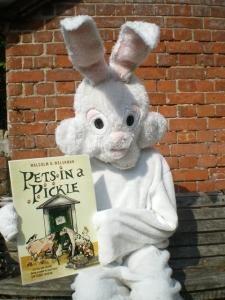 Malcolm Welshman in a rabbit suit