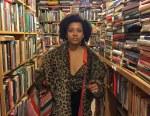 Phot of Amanya in a bookshop
